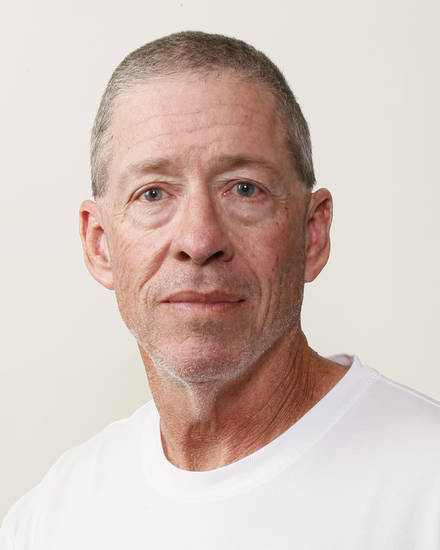 Gary Rose, Carl Albert football coach, poses for a mug shot during The Oklahoman's Fall High School Sports Photo Day in Oklahoma City, Wednesday, Aug. 15, 2012. Photo by Nate Billings, The Oklahoman