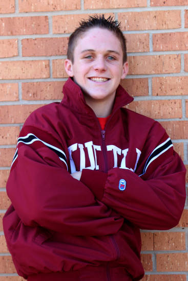 Gunner Laffoon of Tuttle, all-city wrestler at 138 pounds. <strong></strong>