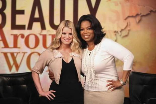 Jessica Simpson on the &quot;Oprah Winfrey Show&quot; (AP Photo/George Burns)