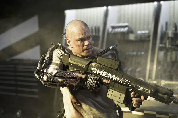 "Matt Damon stars in ""Elysium."" Columbia Pictures photo <strong></strong>"