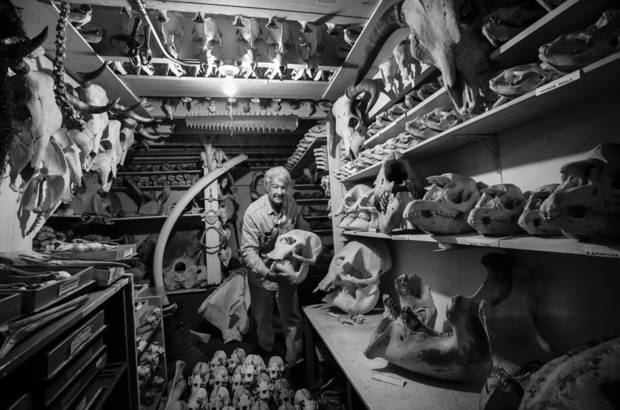 Ray Bandar and his collection. Photo courtesy Julie Dermansky.