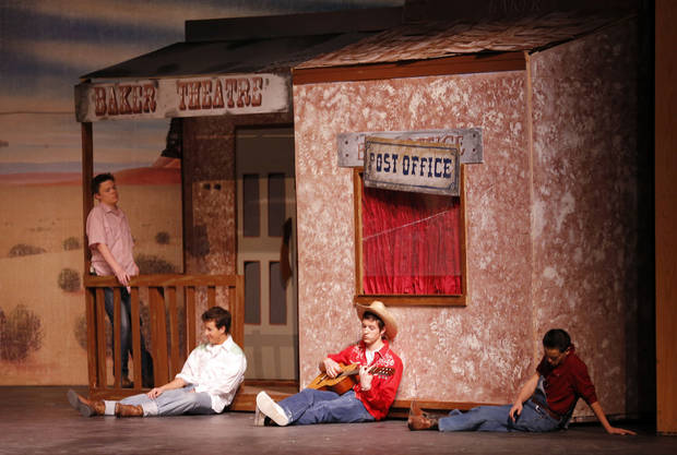 "Students perform during a dress rehearsal for ""Crazy for You"" at Edmond North High School. Photo by Sarah Phipps, The Oklahoman <strong>SARAH PHIPPS - THE OKLAHOMAN</strong>"