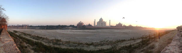 The Taj Mahal sits across an empty riverbed in Agra, India. PHOTO BY LINDSAY HOUTS, THE OKLAHOMAN