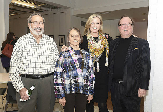 Ira and Sandra Schlezinger, Karen Delaney, Chuck Ferrell. Photo by David Faytinger for The Oklahoman__