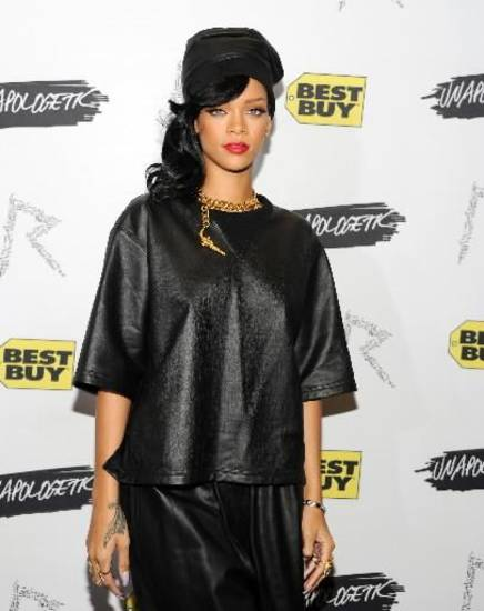 Rihanna's first fashion collection will debut in February. AP Photo.