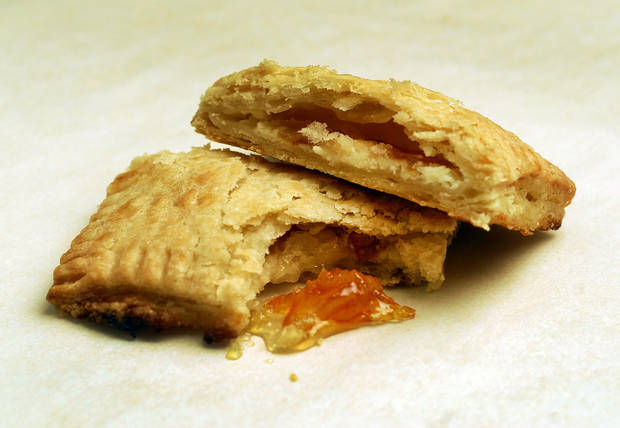 Put a homemade spin on pop-tarts while satisfying our grown-up palates. Here, orange marmalade with mascarpone pop-tart. (Mark DuFrene/Contra Costa Times/MCT)