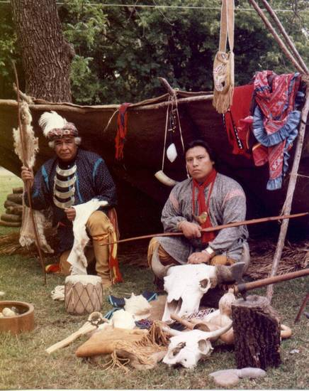 Cultural demonstrators provided a peek at traditional American Indian life as a past Sorghum Day Festival in Wewoka. Similar demonstrations will take place at this year's festival on Saturday, Oct. 27. <strong> - Provided</strong>
