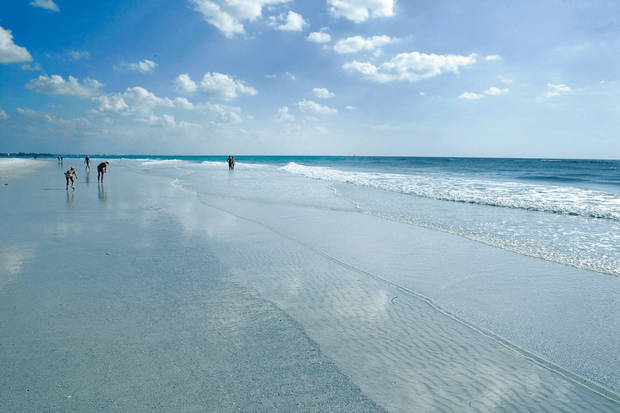"Siesta Beach in Sarasota, Fla., was the runner up to Hanalei Bay as the nation's top beach for 2009 in ""Dr. Beach"" Stephen P. Leatherman's annual rankings. (AP PHOTO)"