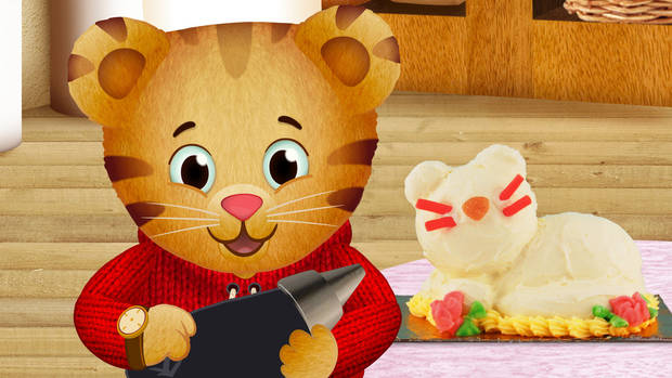"""Daniel Tiger's Neighborhood,"" the first TV from the Fred Rogers Company since ""Mister Rogers' Neighborhood,"" premieres this fall on PBS KIDS. The series stars 4-year-old Daniel Tiger (pictured here, in a story from the pilot episode ""Daniel's Picnic""), son of the original program?s Daniel Striped Tiger, who invites young viewers into his world, giving them a kid?s eye view of his life.   <strong> - PBS Photo</strong>"