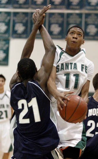 Edmond Santa Fe senior Aaron Anderson has scholarship offers from Nevada, Oral Roberts and Fresno State.