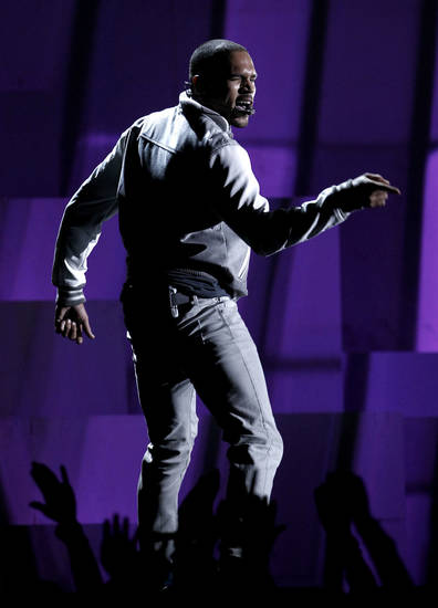 Chris Brown performs during the 54th annual Grammy Awards on Sunday, Feb. 12, 2012 in Los Angeles. (AP Photo/Matt Sayles) ORG XMIT: CASH279