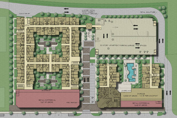 New east Bricktown site plan.