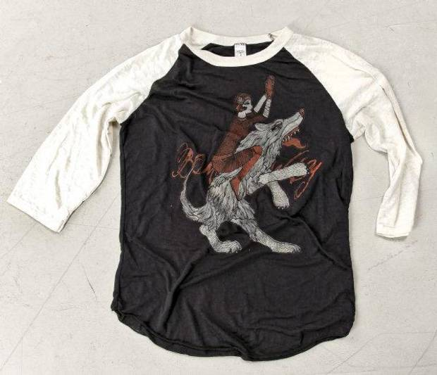 The Red Riding raglan is from the Bombs Away line of T-shirts by artist and designer Dustin Oswald. Photo by Chris Landsberger, The Oklahoman. <strong>CHRIS LANDSBERGER</strong>
