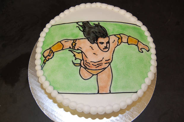Tarzan wishes the Nerdage blog happy birthday in this cake by Annette Price