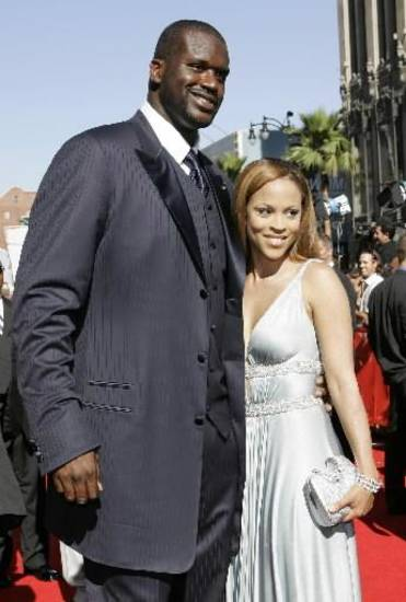 Shaquille and Shaunie O'Neal at the ESPY's in 2007 (AP Photo/Kim Johnson Flodin)