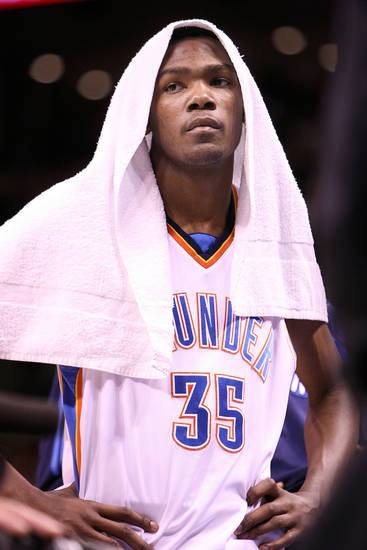 Oklahoma City Thunder forward Kevin Durant. By Hugh Scott