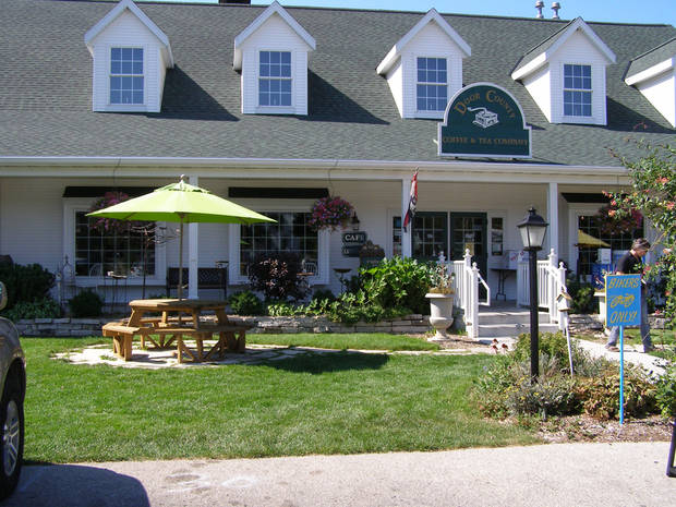 Door County Coffee & Tea includes a quaint restaurant and shop featuring specialty coffees. Worth noting are the cherry creme and red velvet cake flavors. <strong> - Amy Raymond, The Oklahoman</strong>