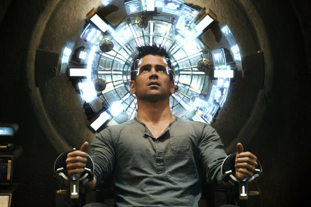 "Colin Farrell as Quaid in a scene from ""Total Recall."" COLUMBIA PICTURES PHOTO <strong></strong>"