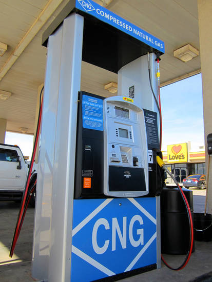 Compressed natural gas is available at Love�s Country Store in Norman. Company officials are planning a grand opening there for July 13.  Photo provided