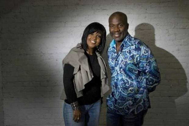 BeBe Winans, right, with his sister CeCe Winans. (AP Photo/John Amis)