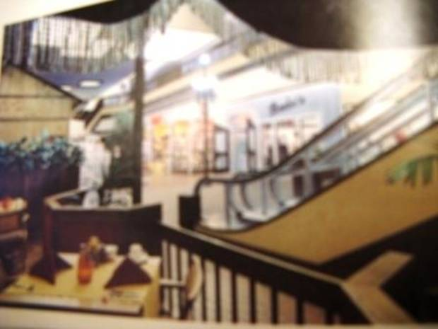 """This blurry photo from an advertisement is the only image I've found from the """"glory days"""" at Century Center."""