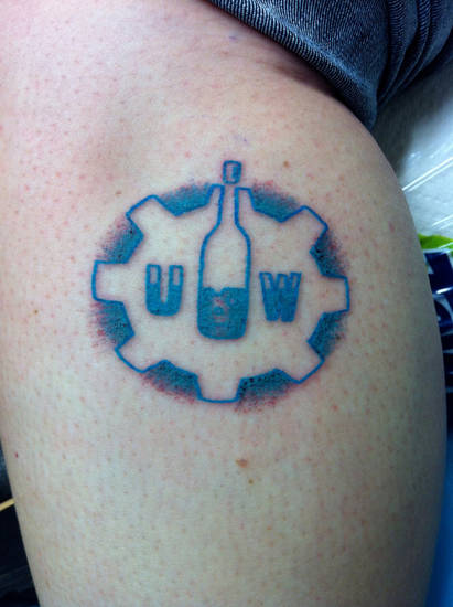 An Urban Wineworks customer tattoo. Photo Provided <strong></strong>