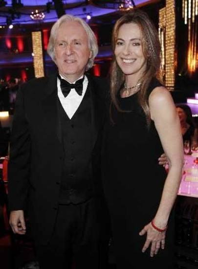 "James  Cameron, left, director of ""Avatar,"" and his ex-wife Kathryn  Bigelow, director of ""The Hurt Locker,"" pose together at the 15th Annual Critics Choice Movie Awards in Los Angeles. AP Photo"
