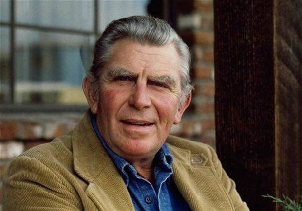 FILE - This Jan. 1983 file photo shows actor Andy Griffith posing in Los Angeles to promote his upcoming CBS-TV film, &quot;Murder in Coweta County&quot;. Griffith, whose homespun mix of humor and wisdom made &quot;The Andy Griffith Show&quot; an enduring TV favorite, died Tuesday, July 3, 2012 in Manteo, N.C. He was 86. (AP Photo/Wally Fong, file)