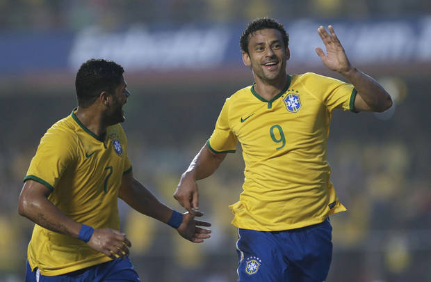 As the host country, Brazil is the odds-on favorite to win the 2014 World Cup. (AP Photo/Andre Penner)