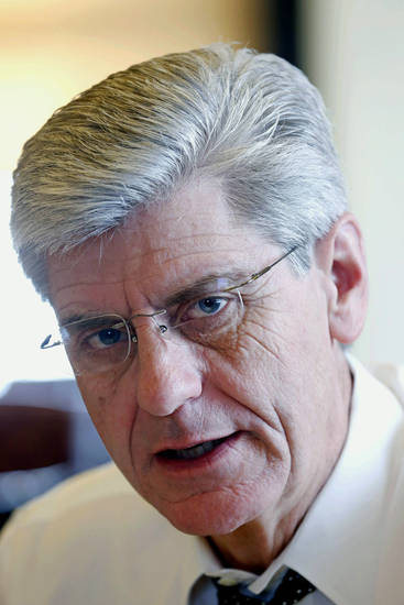 In this Dec. 20, 2012 photo, Republican Gov. Phil Bryant speaks about his vision for the 2013 session of the Legislature from his office at the Capitol in Jackson, Miss. The upcoming session starts Jan. 8, 2013. (AP Photo/Rogelio V. Solis)