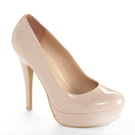 Balance the bold floral prints with a pair of simple nude heels. Try the LC Lauren Conrad platform high heels from Kohl's for $41.99. (Courtesy Kohl's via Los Angeles Times/MCT)