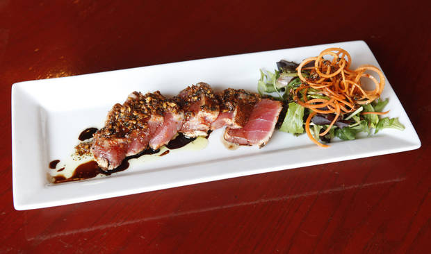 Seared ahi tuna from Picasso Cafe in Oklahoma City's Paseo Arts District. Photo by Paul Hellstern, The Oklahoman <strong>PAUL HELLSTERN - Oklahoman</strong>