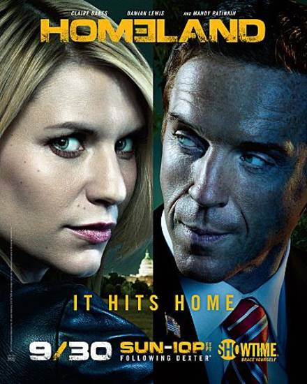 "Claire Danes as Carrie Mathison and Damian Lewis as Nicholas ""Nick"" Brody in Homeland (Season 2 keyart) - Photo: Courtesy of SHOWTIME - Photo ID: ADV125963A_HOME2_Announce_AD"