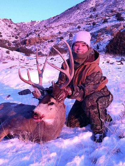 Kelly Newman of Edmond shot this big mule deer in the Panhandle near the base of the Black Mesa on New Year's Day.