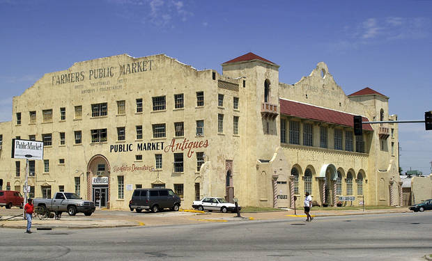 Farmer's Public Market in Oklahoma City.  National Register of Historic Places.   Staff photo by Jim Beckel.