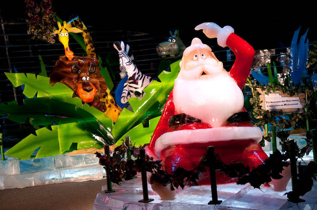 ICE! featuring Merry Madagascar at The Gaylord Texan Resort is an enormous display of sculpted ice art. Photo provided.       <strong>Stephen Elliot</strong>