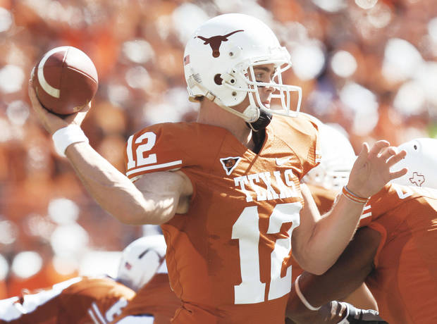 Texas' Colt McCoy might be a more sympathetic candidate after the Longhorns didn't get the chance to play in the Big 12 Championship. PHOTO By Doug Hoke, The Oklahoman