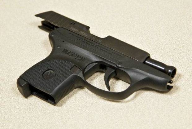 A .380 handgun at the Mustang Police Department on Friday, Sept. 23, 2011 in Mustang, Okla. that is similar to the one found at the scene of the shooting death of longtime Nichols Hills Fire Chief Keith Bryan.Photo by Chris Landsberger, The Oklahoman  ORG XMIT: KOD