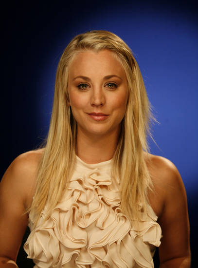   This Sept. 25, 2012 photo shows actress Kaley Cuoco in New York. Cuoco stars as Penny in the CBS hit comedy, &quot;The Big Bang Theory.&quot; (AP Photo/John Carucci)  