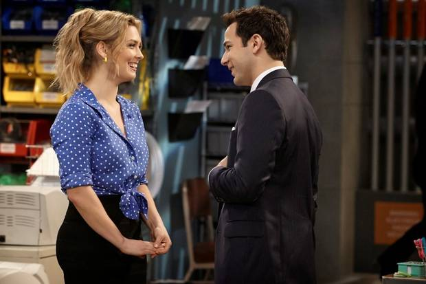 Briga Heelan and Skylar Astin star in GROUND FLOOR, TBS's new comedy from Emmy nominees Bill Lawrence and Greg Malins. - TBS Photo