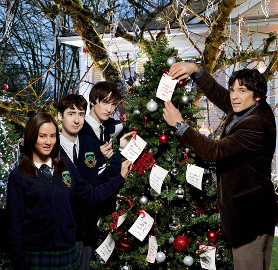 "From left, Emmalyn Estrada, Amitai Marmorstein, Richard Harmon and Jason Gedrick star in ""The Wishing Tree."" -"