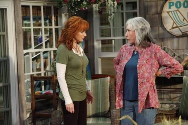 "Reba McEntire, left, and Lily Tomlin co-starred in ""Malibu Country."""