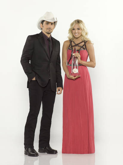 Hosted by Brad Paisley and Checotah native Carrie Underwood, the 46th Annual CMA Awards will air from 7 to 10 p..m. Thursday live from the Bridgestone Arena in Nashville, Tenn., on ABC. It will be Underwood and Paisley's fifth straight year to co-host the show. Photo provided. <strong>Bob D'Amico</strong>