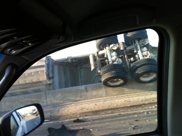 Pictures of i40 semi wreck this morning