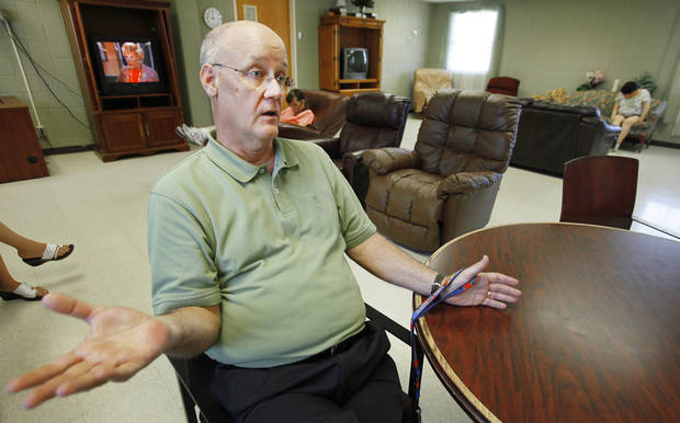 Jim Nicholson, director of the Developmental Disablilities Services Division of the state Department of Human Services, discusses the future of the Southern Oklahoma Resource Center in Pauls Valley. Photo by David McDaniel, The Oklahoman
