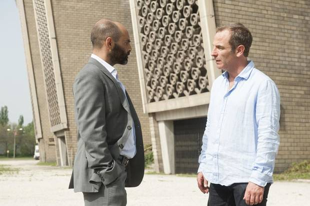 "Zubin Varla (l.) and Robson Green (r.) in Cinemax's hit action series ""Strike Back."" - Photo by Liam Daniel/Cinemax"