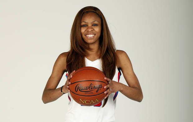 Christina Devers, Bixby High School girls basketball player and member of Girls Super 5, poses for a photo at the OPUBCO studio in Oklahoma City, Wednesday, April 10, 2013. Photo by Nate Billings, The Oklahoman