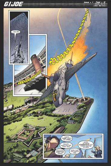 "A page from ""G.I. Joe"" No. 1 by Steve Kurth.  IDW Publishing. <strong></strong>"