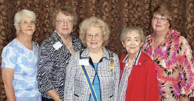 Rosa Barton, Marilyn Spence, Ellen Jayne Wheeler,  Nancy Chotkey, Sue Allen. PHOTO PROVIDED