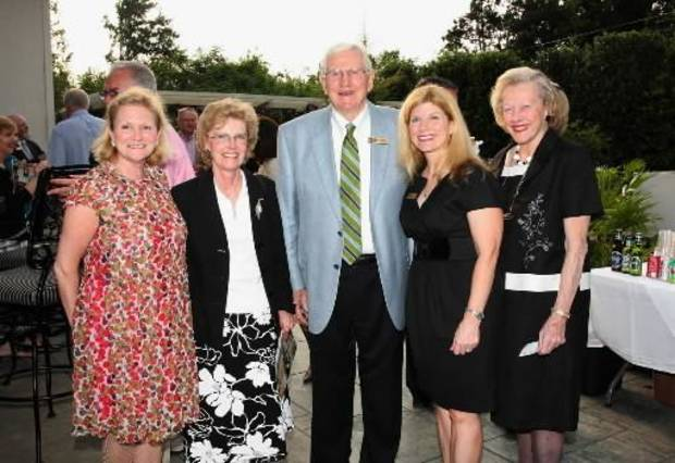 Meg Salyer; Jeanette Newcomer; Don, Suzie and Mary Louise Symcox. PHOTO BY DAVID FAYTINGER, FOR THE OKLAHOMAN